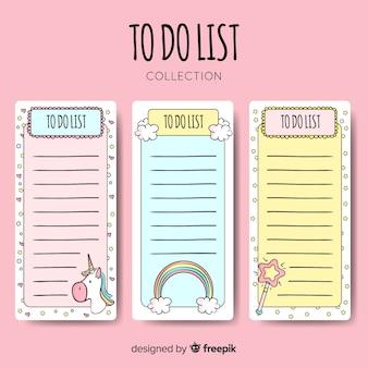 Mooie hand getrokken lijst om inzameling te doen
