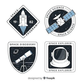 Mooie hand getrokken ruimtegaincollectie