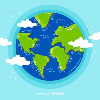 Mooie hand getrokken samenstelling van de aarde
