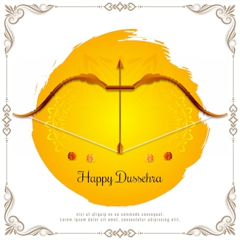 Mooie happy dussehra hindu festival achtergrond vector