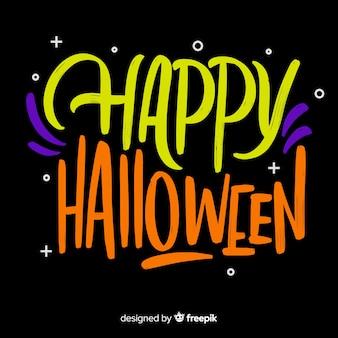 Mooie happy halloween belettering achtergrond