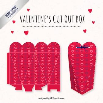 Mooie hart valentijnsdag doos