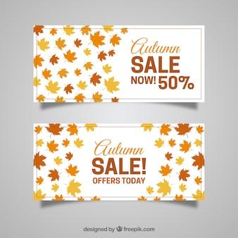 Mooie herfst banners met aanbiedingen