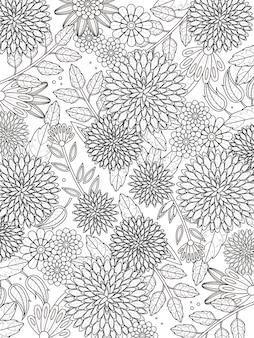 Mooie hortensia kleurplaat in prachtige lijn
