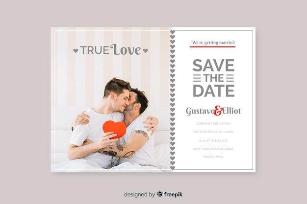 Mooie huwelijksuitnodiging met foto