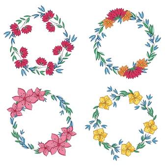 Mooie illustratie van bloemenkrans