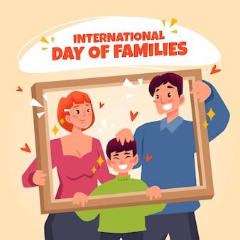 Mooie illustratie voor internationale dag van gezinnen
