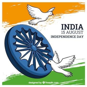 Mooie india onafhankelijkheidsdag achtergrond