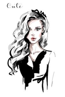 Mooie jonge vrouw.