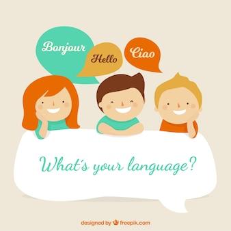 Mooie karakters die verschillende talen spreken