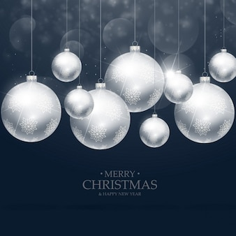 Mooie kerst ballen decoratie op blauwe achtergrond