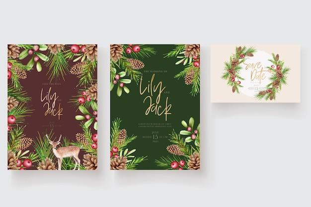 Mooie kerst bloemen en bladeren achtergrond