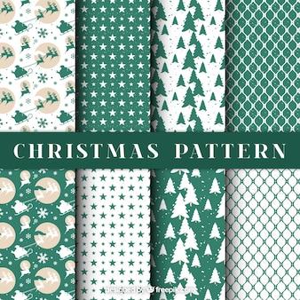 Mooie kerst decoratieve patronen