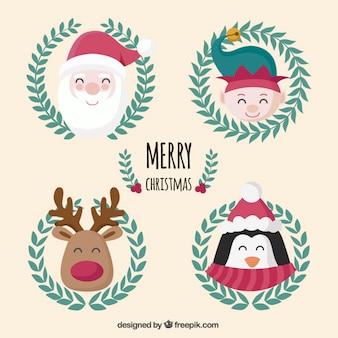 Mooie kerst karakters