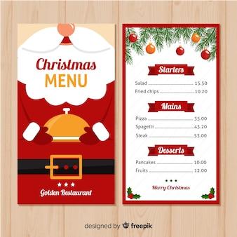 Mooie kerst menusjabloon
