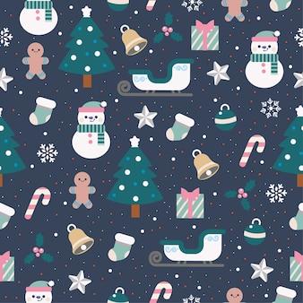 Mooie kerst naadloze patroon
