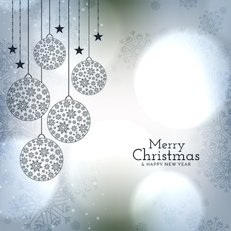 Mooie kerstballen voor merry christmas glanzende achtergrond