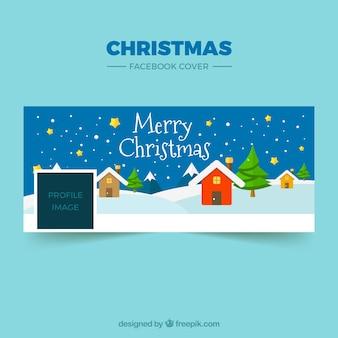 Mooie kerstmis facebook hoesje