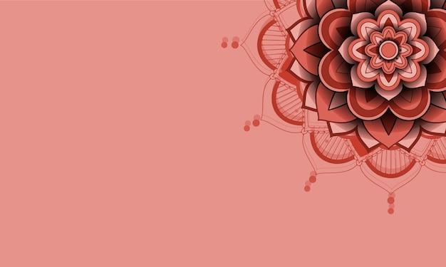 Mooie kleur mandala achtergrond