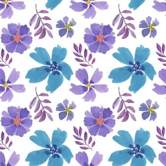 Mooie kleurrijke bloemen aquarel naadloze patroon