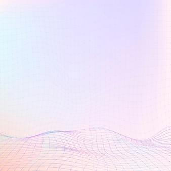 Mooie kleurrijke digitale golvenillustratie