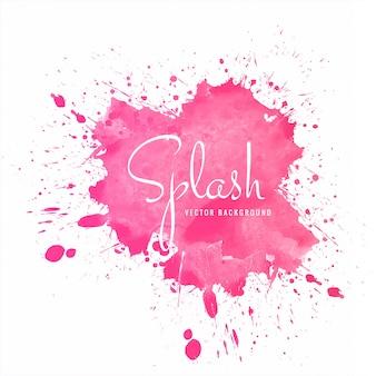 Mooie kleurrijke zachte aquarel splash vector