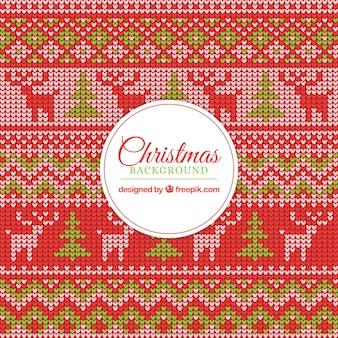 Mooie kruissteek kerstmis achtergrond