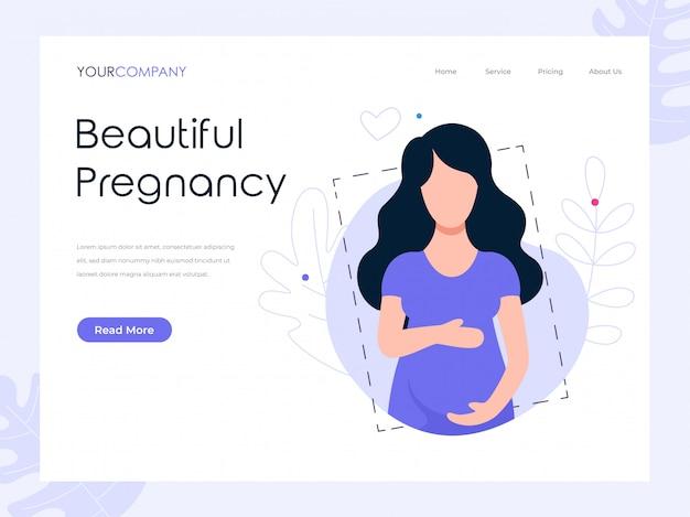 Mooie landingspagina voor zwangerschap