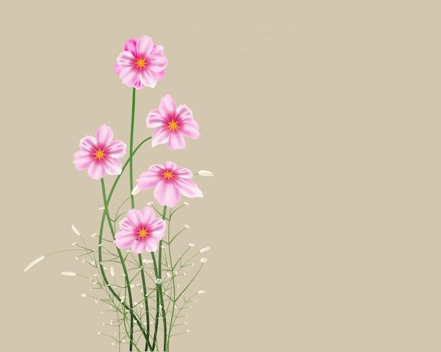 Mooie lente achtergrond met tulp bloemen vector afbeelding