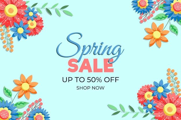 Mooie lente verkoop achtergrond