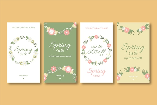 Mooie lente verkoop instagram-verhalen