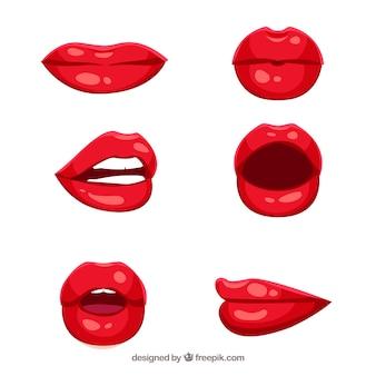 Mooie lippen gezet
