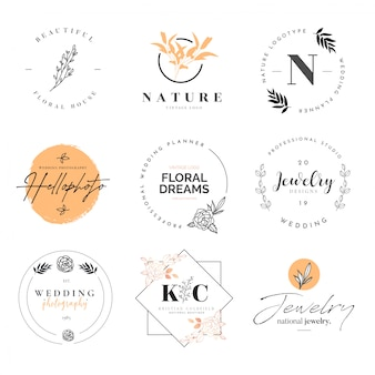 Mooie logo-collectie