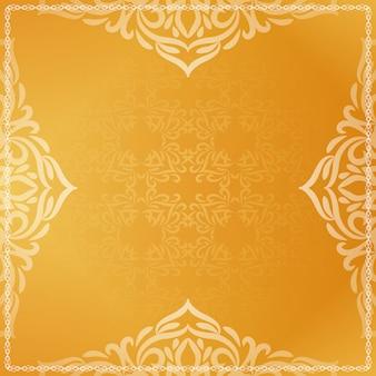 Mooie luxe heldere gele decoratieve achtergrond