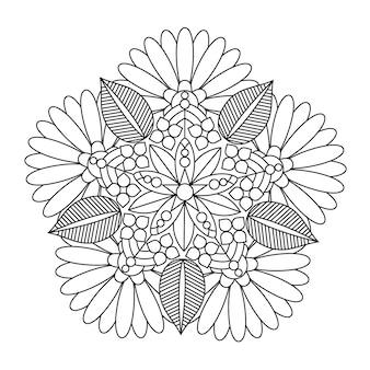 Mooie mandala bloem