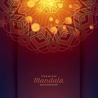 Mooie mandala kunstachtergrond