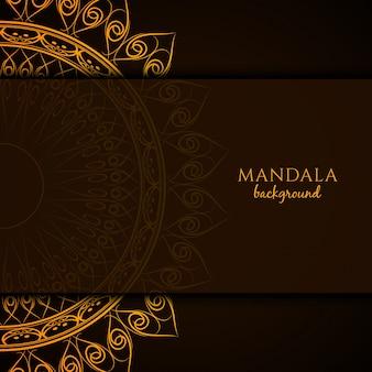 Mooie mandala ontwerp achtergrond