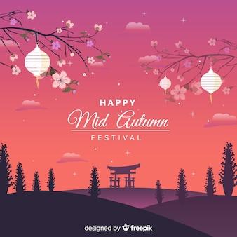 Mooie medio herfst festival achtergrond