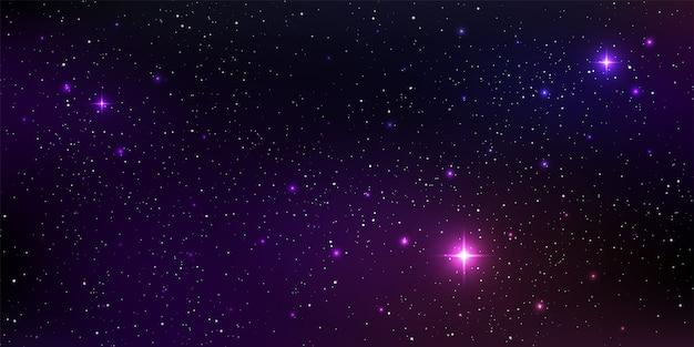 Mooie melkwegachtergrond met sterrenstof van de nevelkosmos en helder glanzende sterren in het universum