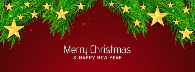 Mooie merry christmas banner