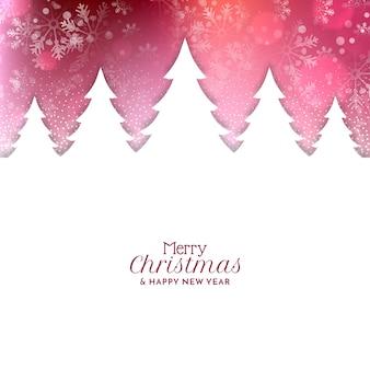Mooie merry christmas festival begroeting achtergrond