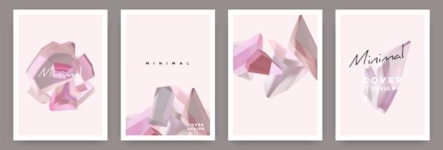 Mooie minimale pastelkleurige omslagset