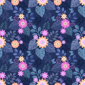 Mooie moderne bloemen naadloze patroon.