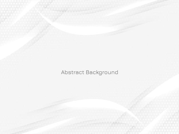 Mooie moderne lichte achtergrond met golvende glanzende lijnen