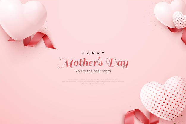 Mooie moederdag liefde ballonnen.