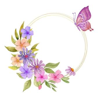 Mooie mooie aquarel lente bloem frame