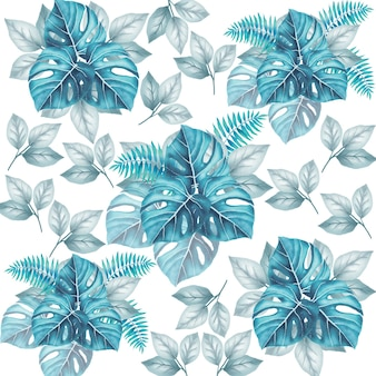 Mooie naadloze patroon bloemen laat aquarel