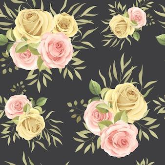 Mooie naadloze patroon met kleurrijke rozen