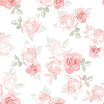 Mooie naadloze patroon mooie bloem en bladeren