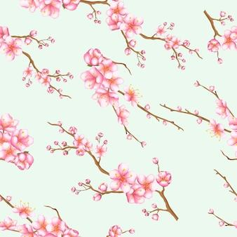Mooie naadloze patroonbloemen